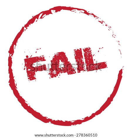 Fail Vector Stamp - stock vector