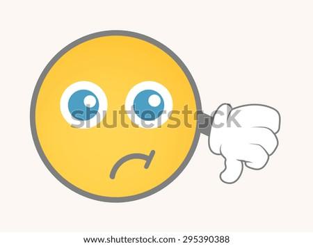 Failure - Cartoon Smiley Vector Face - stock vector
