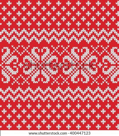 Fair Isle Sweater Design Seamless Knitting Stock Vector 400447123 ...