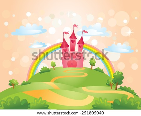 Fairy Tale castle. - stock vector
