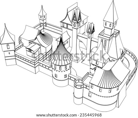 fairy tale castle building