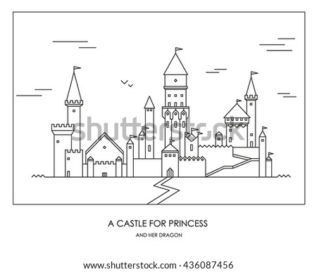Fairy Tale Story Kids Girls Magic Stock Vector Hd Royalty Free