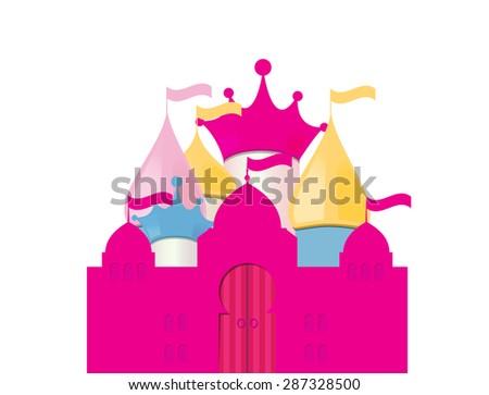 Fairytale Castle. Vector Illustration. EPS10 - stock vector
