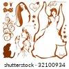 fairytale illustration - stock vector