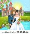 fairytale wedding - stock vector