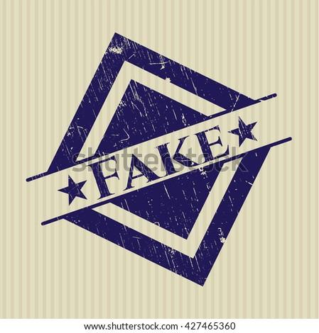Fake grunge stamp - stock vector