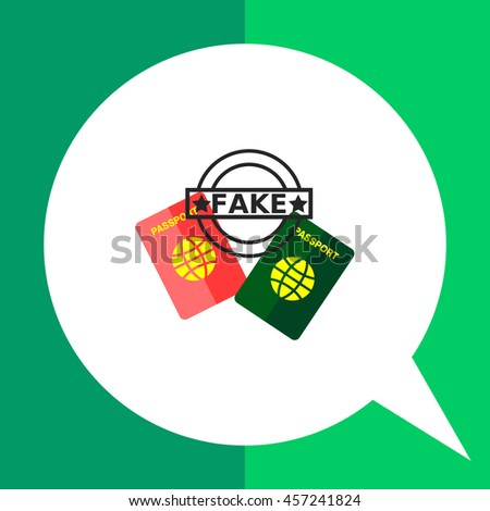 Fake passports flat icon - stock vector