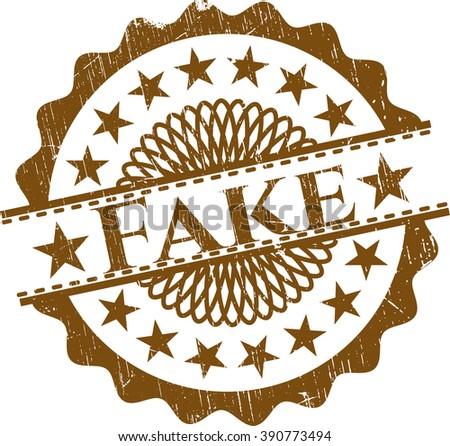 Fake rubber grunge stamp - stock vector