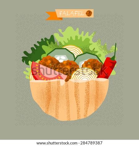 Falafel Pita Stock Images, Royalty-Free Images & Vectors ... Falafel Clipart