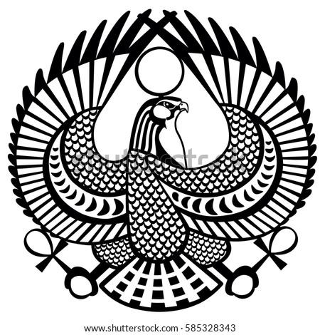 Falcon Ancient Egyptian Symbol God Horus Stock Photo Photo Vector