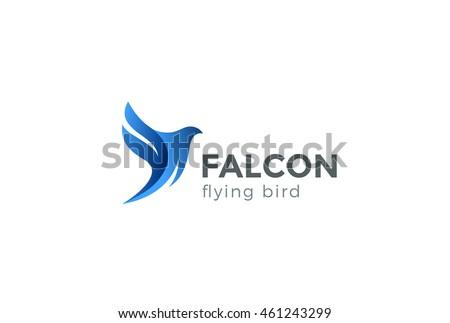 Falcon Bird Logo Abstract Design Vector Stock Vector ...