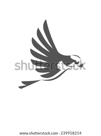 Falcon, eagle stylized  - stock vector