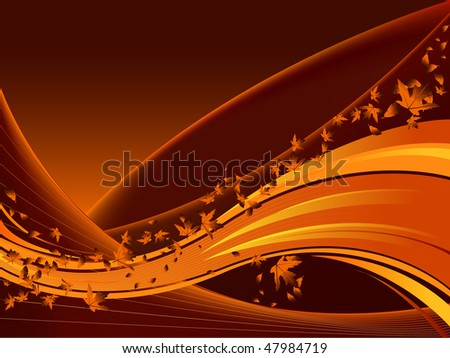 Fall colors background with leaves - stock vector