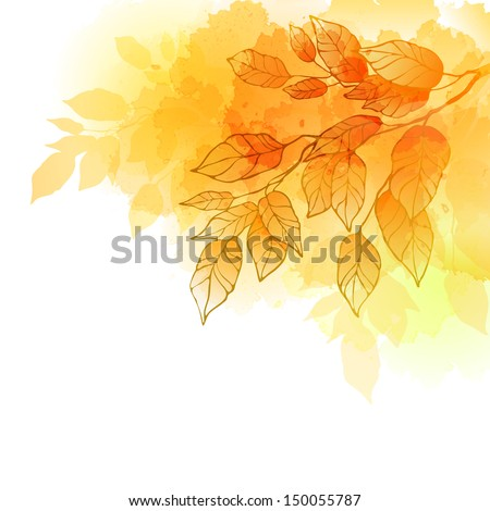 Fall leafs abstract background