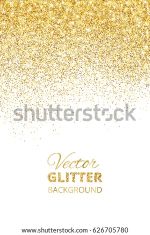 Falling glitter confetti vector golden dust stock vector 626705780 falling glitter confetti vector golden dust isolated on white festive background with sparkling glitter stopboris