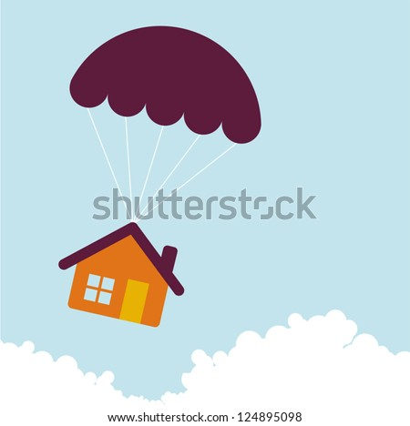 Falling home. - stock vector