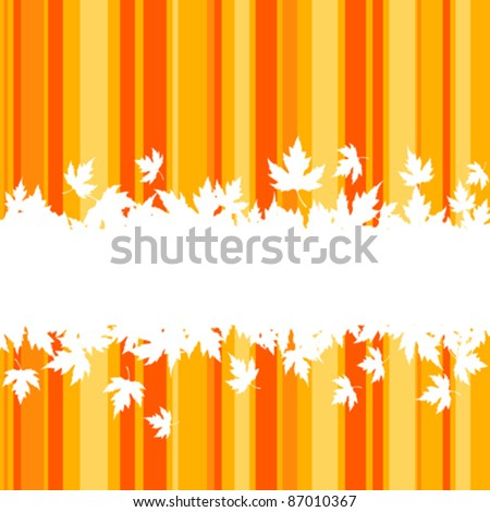 Falling leaves on colorful background for seasonal design. Rasterized version also available in gallery - stock vector