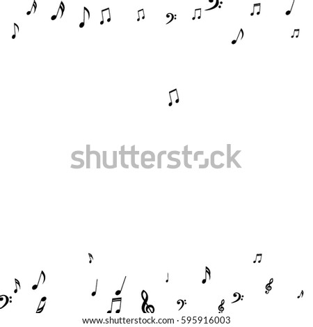 Falling Notes Background Frame Treble Clefs Stock Vector 595916003 ...