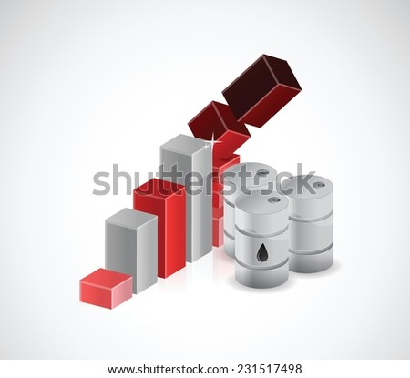 falling oil prices illustration design over a white background - stock vector