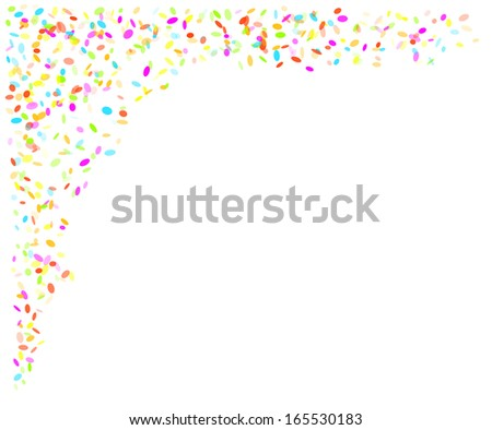 falling oval confetti with different colors and size