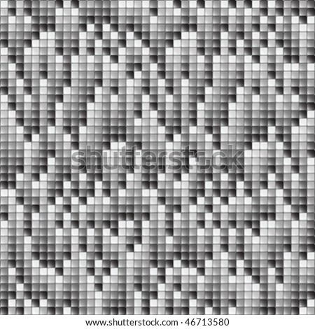 falling pixels background, texture of square with grey scale