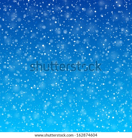 Falling snow background. Vector. - stock vector