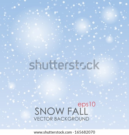 Falling Snow Background - Vector - stock vector