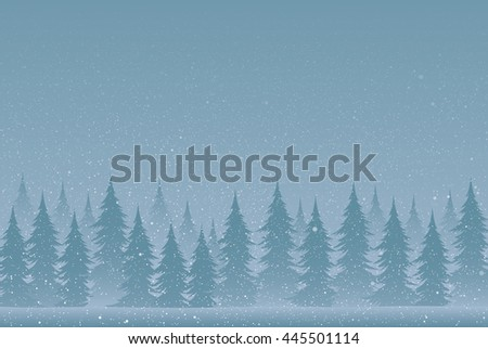 Falling snow vector. White splash on blue background. Winter snowfall hand drawn spray texture. Winter forest. Christmas tree. Snow. - stock vector