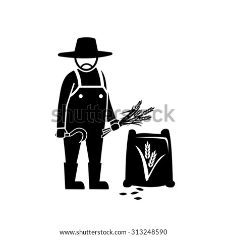 Famer farm vector - stock vector