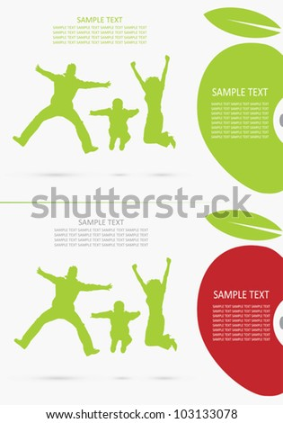 Family background - vector illustration - stock vector