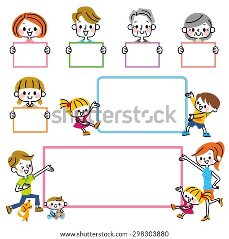 Family board - stock vector