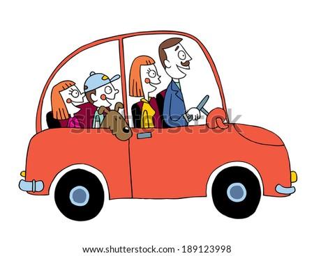family car - stock vector