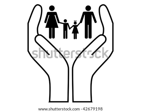 family care vector - stock vector