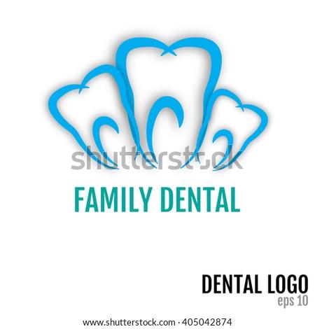 Family Dental Vector Art, Stock Vector - stock vector