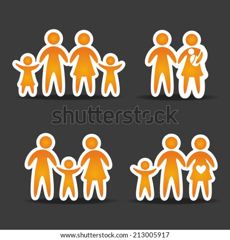 family design over  black background vector illustration