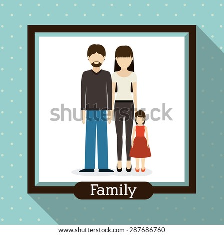 family  design over blue background, vector illustration - stock vector