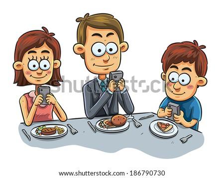 Family Dinner - stock vector