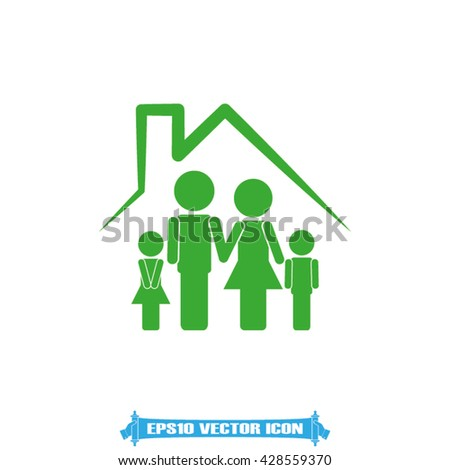 Family house icon vector illustration