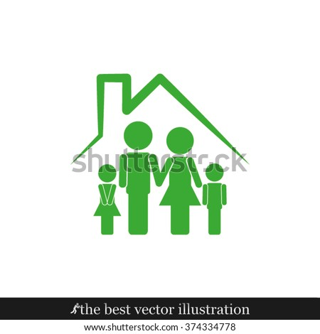 Family House icon vector illustration eps10