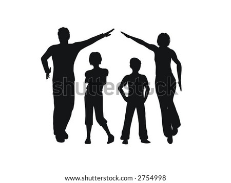 family house vector - stock vector