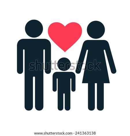 Family icon - stock vector