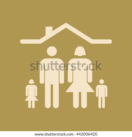 Family Icon.  - stock vector