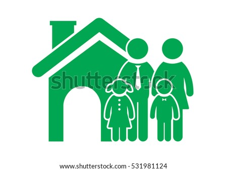 Family Icon in trendy flat style isolated on white background