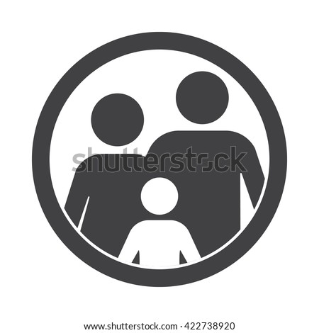 family Icon Vector Illustration on the white background.