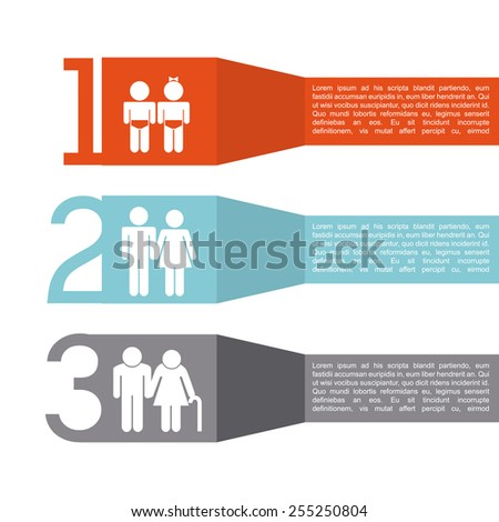 family infographic design, vector illustration eps10 graphic  - stock vector