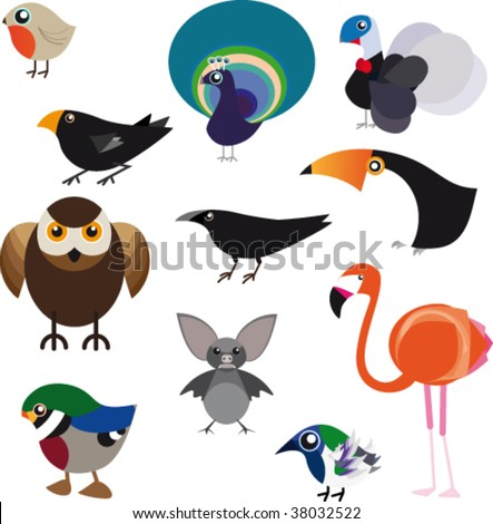 Family of volatile animals. Vector illustration.