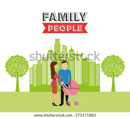 family people design, vector illustration eps10 graphic