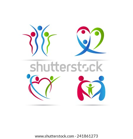 Family people vector design isolated on white background.