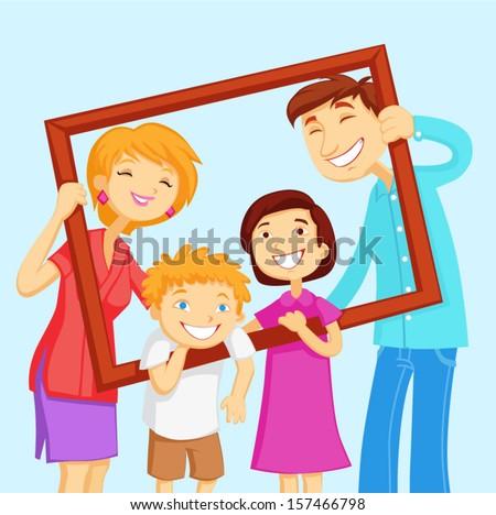 family portrait - stock vector