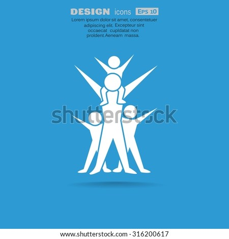 Family sign vector